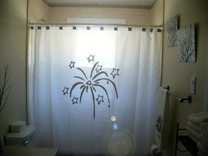 Unique Shower Curtain New Year's Eve Fireworks Celebration