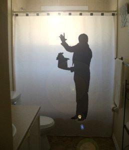 Magician Unique Shower Curtain Magic Show Wizard Hat Rabbit