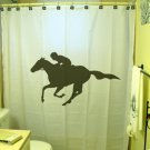 Unique Shower Curtain sport jockey horse race racing ride