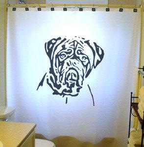 Unique Shower Curtain Dog Dogue De Bordeaux Mastiff Bulldog