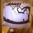 Unique Shower Curtain Hidden Baby Optical Illusion Tree Art