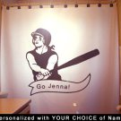 Unique Shower Curtain sport Baseball player hitter personalize