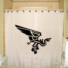 Unique Shower Curtain animal Aztec Mayan Flying Bird Symbol