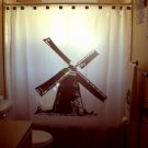 Unique Shower Curtain Windmill wind mill old power generator
