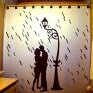 Unique Shower Curtain romance Lovers Couple Rain Street Light