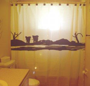 Unique Shower Curtain Elephants Herd Family Elephant 08