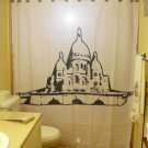 Unique Shower Curtain city Sacre Coeur Basilica Paris France
