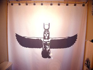 Unique Shower Curtain Isis Egyptian Goddess Fertility God