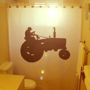 Unique Shower Curtain Tractor Farm Farming Vehicle Agriculture