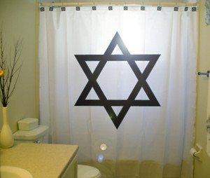 Unique Shower Curtain Star of David shield symbol Jewish Torah