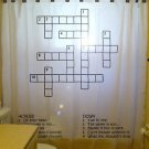 Unique Shower Curtain interactive fun theme CROSSWORD PUZZLE