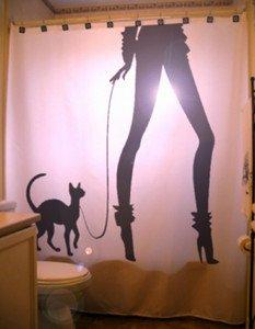 Unique Shower Curtain Cat Fashionista Fashion woman chic paris