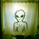 Unique Shower Curtain Alien extra terrestrial science fiction