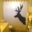 Unique Shower Curtain Deer Antlers Moose Reindeer buck stag