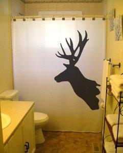 Unique Shower Curtain Deer Antlers Moose Reindeer buck stag