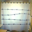 Unique Shower Curtain Barbed Wire fence Multiple barb wires