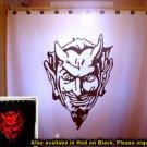 Unique Shower Curtain Devil Satan Face of Evil horns satanic