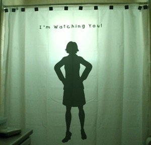 Unique Shower Curtain funny horror Mom I'm Watching YOU son