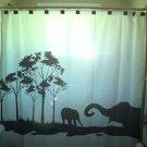 Unique Shower Curtain Elephants Herd Family Elephant 06