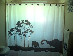 Unique Shower Curtain Elephants Herd Family Elephant 06