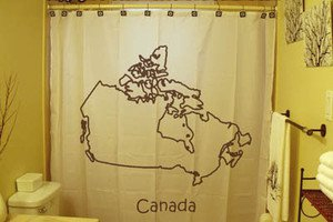 Unique Shower Curtain country map Canada Canadian provinces eh
