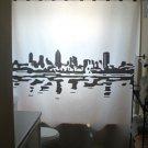 Unique Shower Curtain city Montreal Waterfront Skyline Quebec