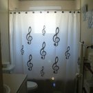 Unique Shower Curtain music Treble Clefs note staff pitch name