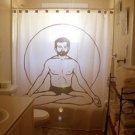 Unique Shower Curtain yoga Padmasana Lotus Sukhasana position