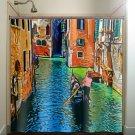Venice Gondolier Venetian Lagoon Gondola shower curtain  bathroom   ki