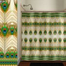 Bohemian Feather Peacock shower curtain  bathroom     window c