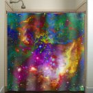 Nebula Planets Outer Space Rainbow Galaxy shower curtain  bathroom   k