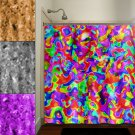 multicolor rainbow colorful bright colors shower curtain  bathroom   k