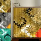beautiful golden brown turquoise red gold shower curtain  bathroom   k