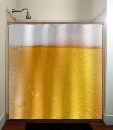 drink frothy beer lover shower curtain  bathroom     window cu