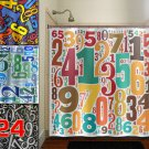 digit math custom lucky Number shower curtain  bathroom     wi