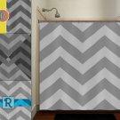 personalized name zigzag gray chevron shower curtain  bathroom   kids