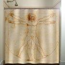 vitruvian man shower curtain  bathroom     window curtains pan