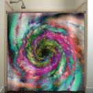 Black Hole Space Spiral Whirlpool Galaxy shower curtain  bathroom   ki