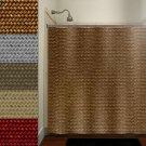 natural basket weave shower curtain  bathroom     window curta