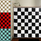 Checkered Car Racing Flag Chess Board Shower Curtain  bathroom   kids