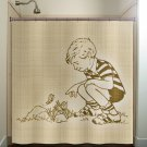 vintage child butterfly boy children kids shower curtain  bathroom   k