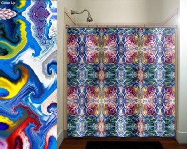 tribal native art gypsy bohemian shower curtain  bathroom