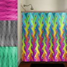 multi color vines bright colorful rainbow shower curtain  bathroom   k