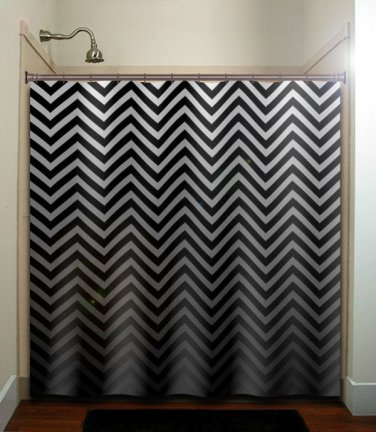 fifty shades of gray chevrons shower curtain  bathroom     win