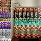 shabby gypsy bohemian owl chevron shower curtain  bathroom