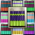 lime green stripe purple zig zag chevron shower curtain  bathroom   ki