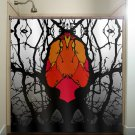heart tree forest monster macabre shower curtain  bathroom