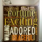 personalized Color Any Word art typography shower curtain  bathroom