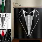 gbathroom tuxedo dinner suit tie mens shower curtain  bathroom