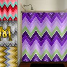 personalized field purple lavender chevron shower curtain  bathroom